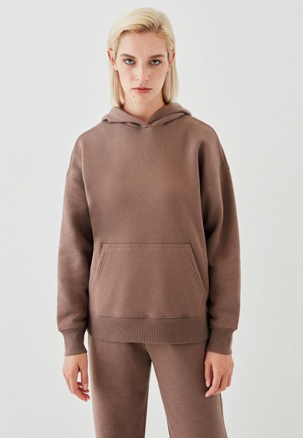 женские худи zarina, коричневые