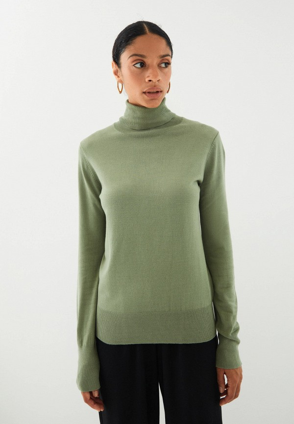 женская водолазка zarina, зеленая