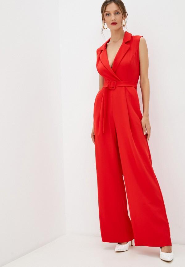 женский комбинезон с брюками sienna, красный
