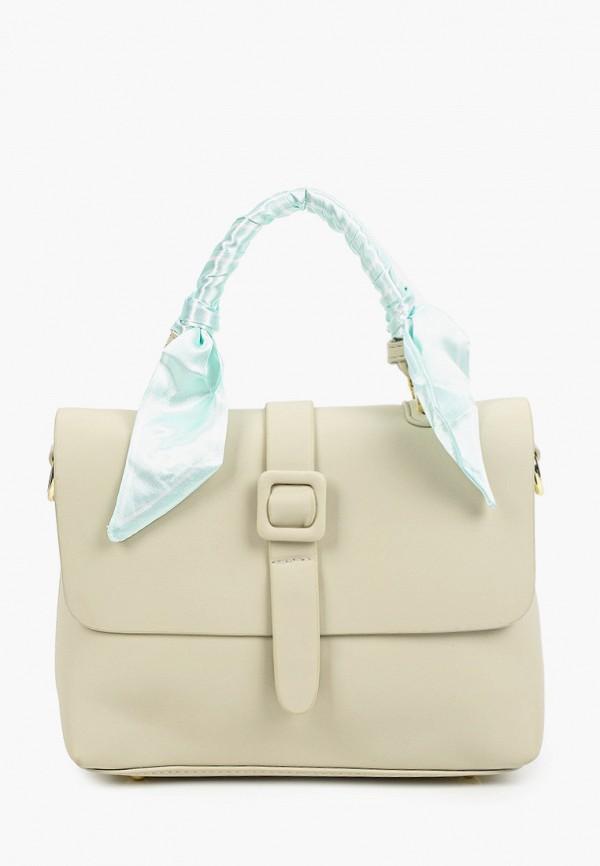 женская сумка с ручками dispacci, зеленая