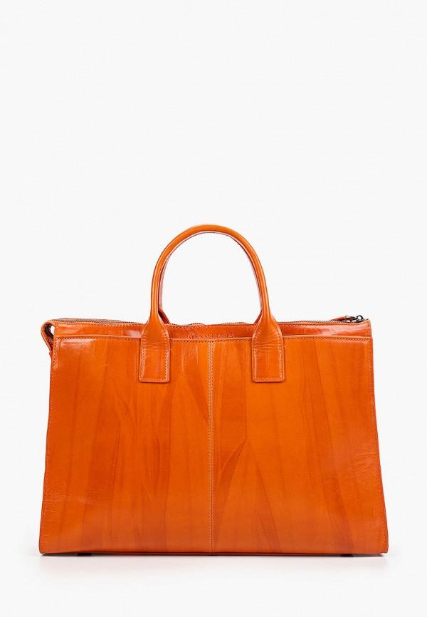 женская сумка с ручками alexander tsiselsky, оранжевая