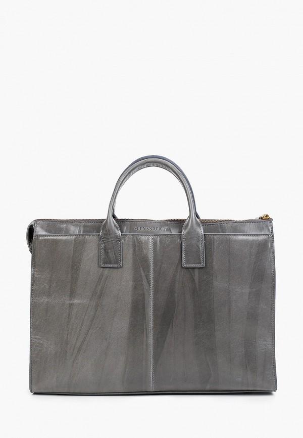 женский портфель alexander tsiselsky, серый