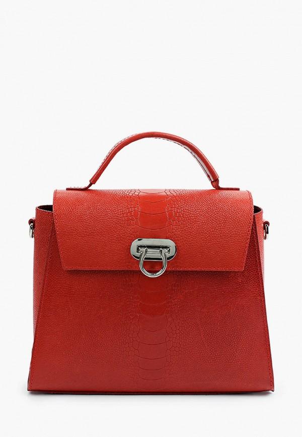 женская сумка с ручками alexander tsiselsky, красная
