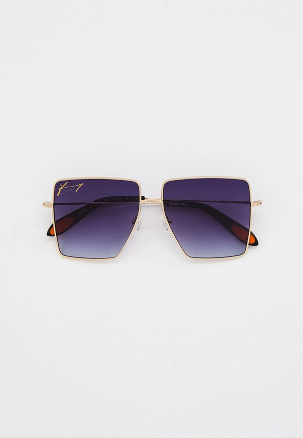 женские квадратные солнцезащитные очки baldinini, золотые
