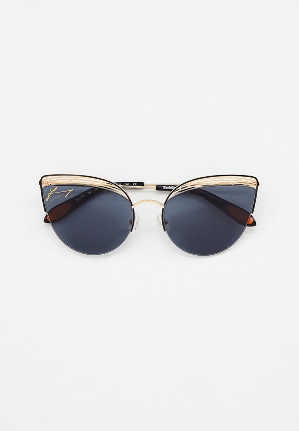 женские солнцезащитные очки кошачьи глаза baldinini, золотые