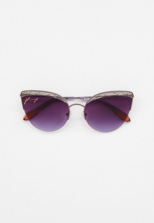 женские солнцезащитные очки кошачьи глаза baldinini, серебряные