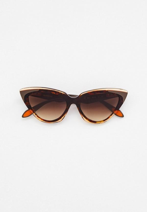 женские солнцезащитные очки кошачьи глаза baldinini, коричневые