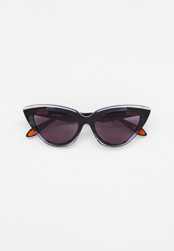 женские солнцезащитные очки кошачьи глаза baldinini, серые