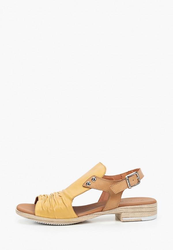женские сандалии paula urban, желтые