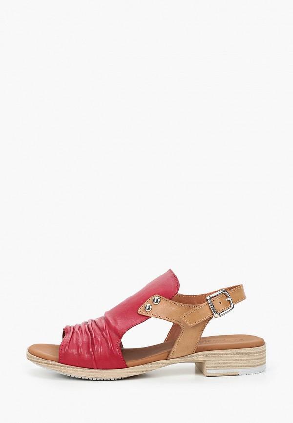 женские сандалии paula urban, красные