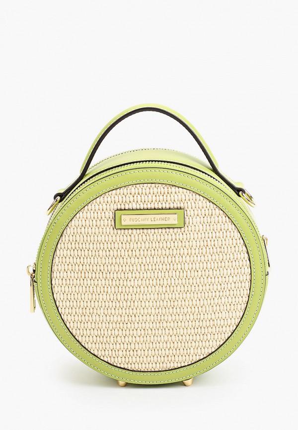 женская сумка с ручками tuscany leather, зеленая