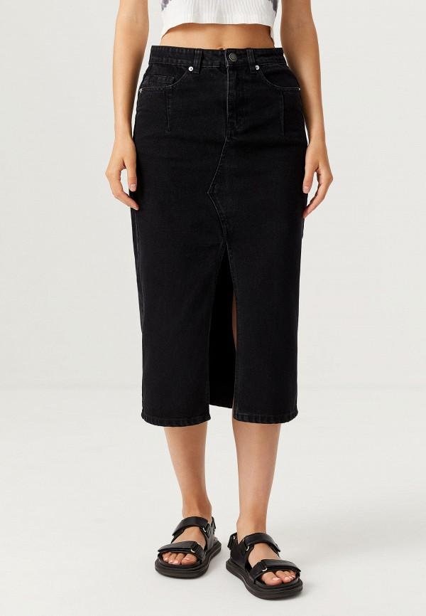 женская джинсовые юбка sela, черная