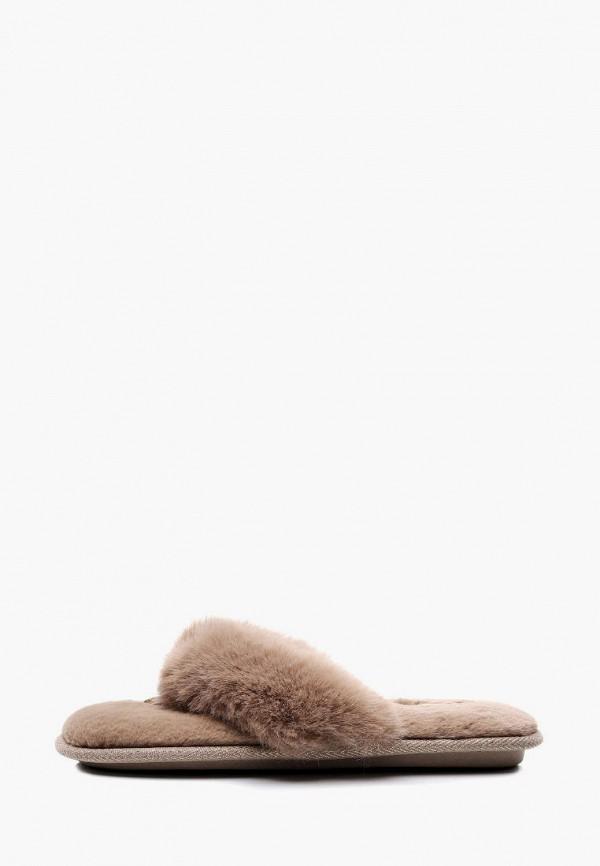 женские тапочки pettimelo, коричневые