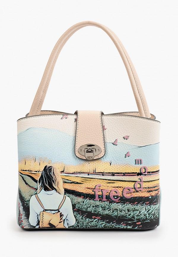 женская сумка с ручками curanni, разноцветная