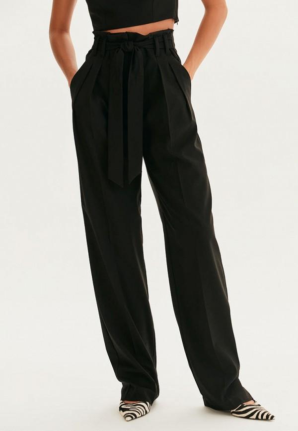 женские повседневные брюки love republic, черные