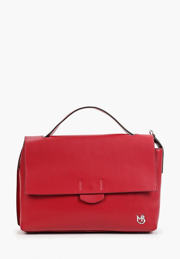 женская сумка с ручками marco bonne', красная