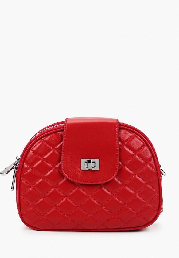 женская сумка через плечо marco bonne', красная