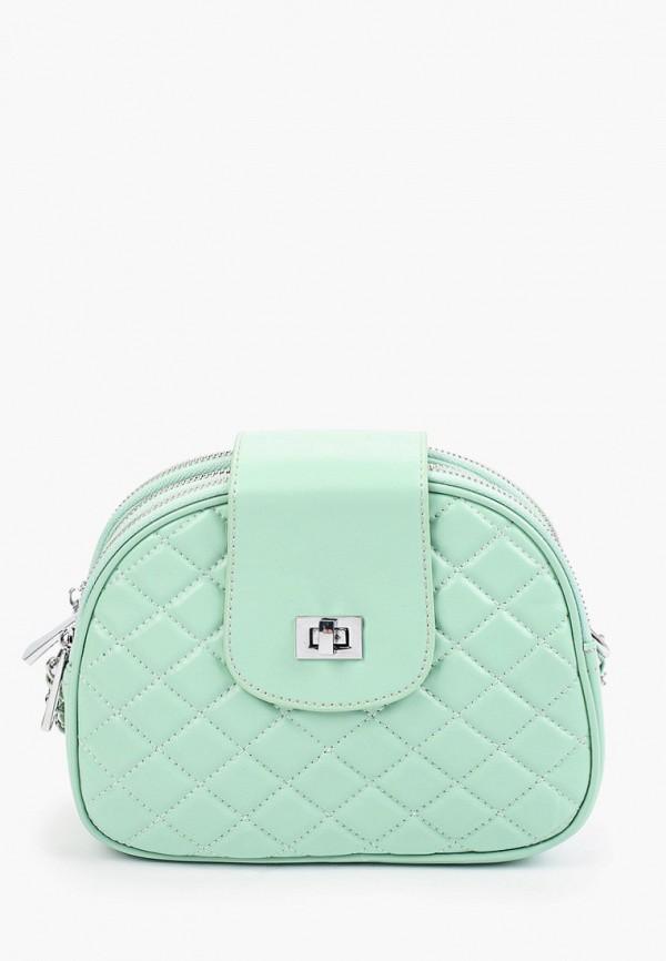 женская сумка через плечо marco bonne', зеленая