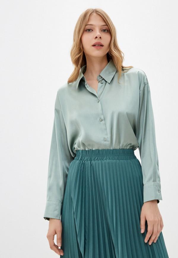 женская блузка с длинным рукавом incity, зеленая