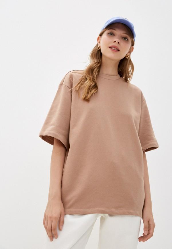 женская футболка incity, бежевая