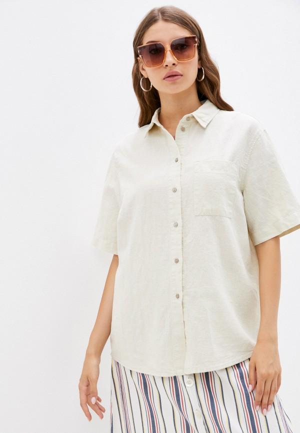 женская рубашка с коротким рукавом mark formelle, бежевая
