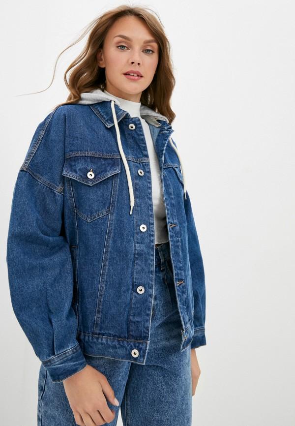 женская джинсовые куртка befree, синяя