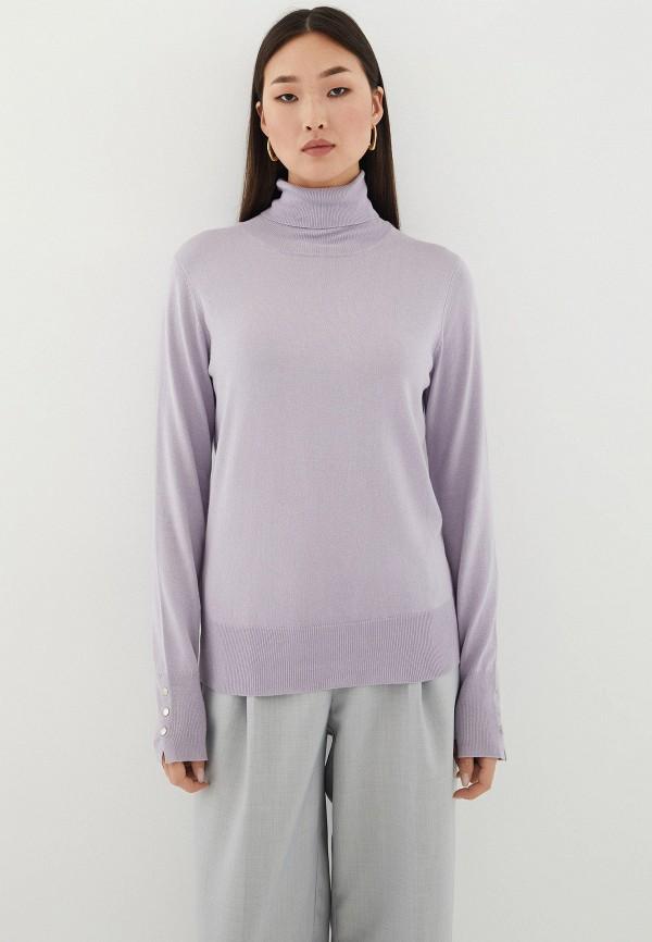 женская водолазка zarina, фиолетовая
