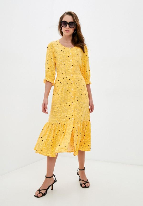 женское платье eva cambru, желтое