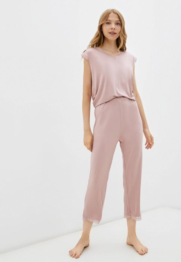 женская пижама eva cambru, розовая