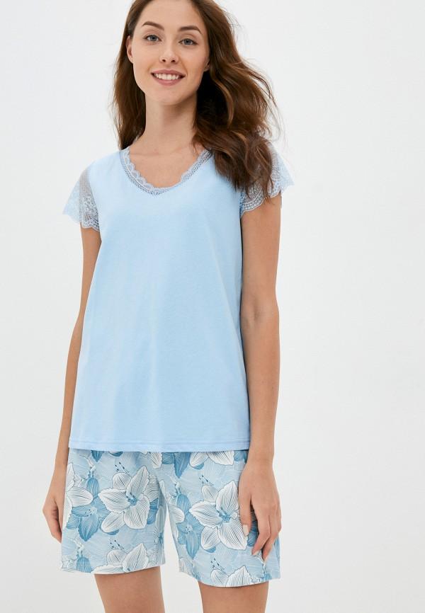 женская пижама eva cambru, голубая