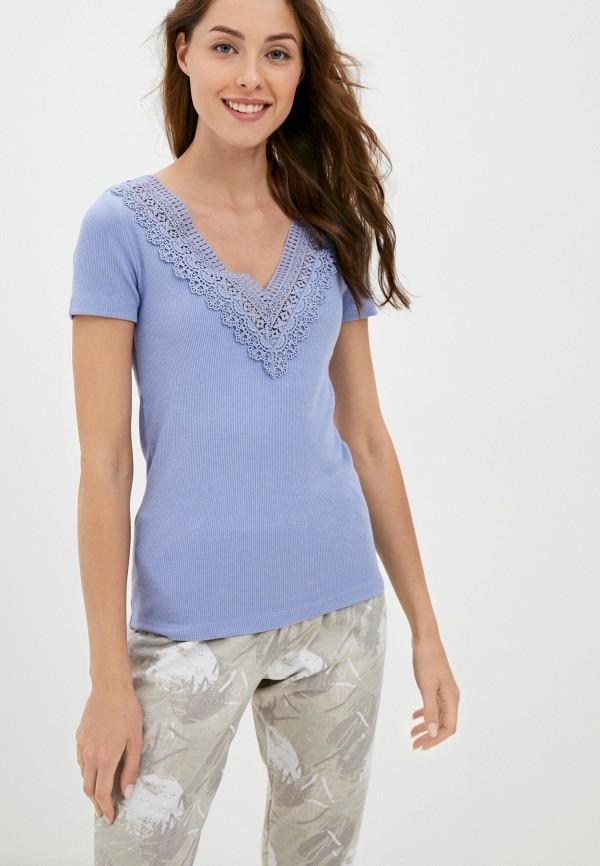 женская футболка eva cambru, голубая