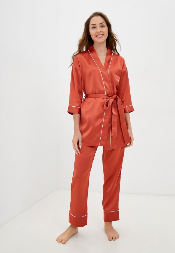 женская пижама eva cambru, оранжевая