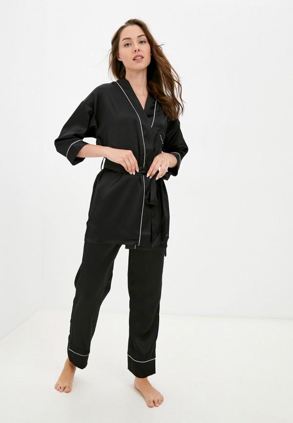 женская пижама eva cambru, черная