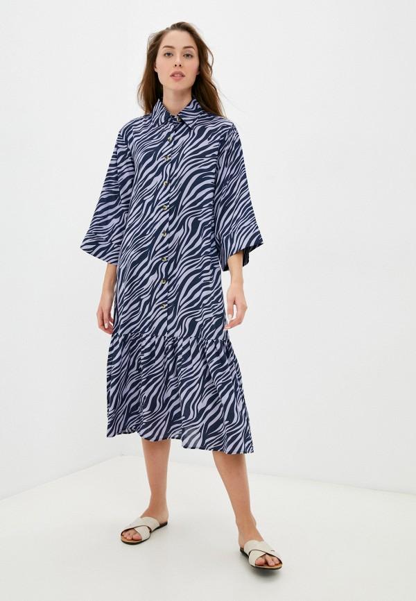 женское платье-рубашки eva cambru, голубое