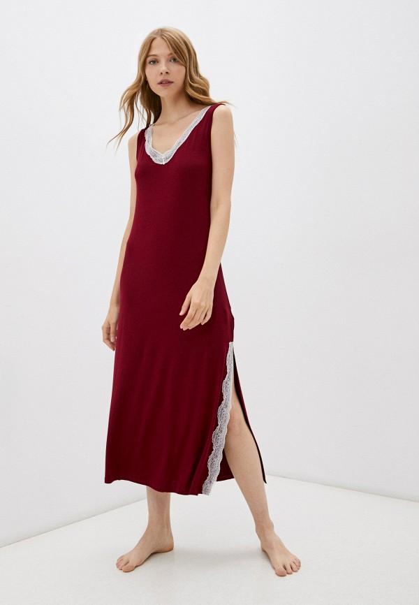 женские сорочка ночная eva cambru, бордовые