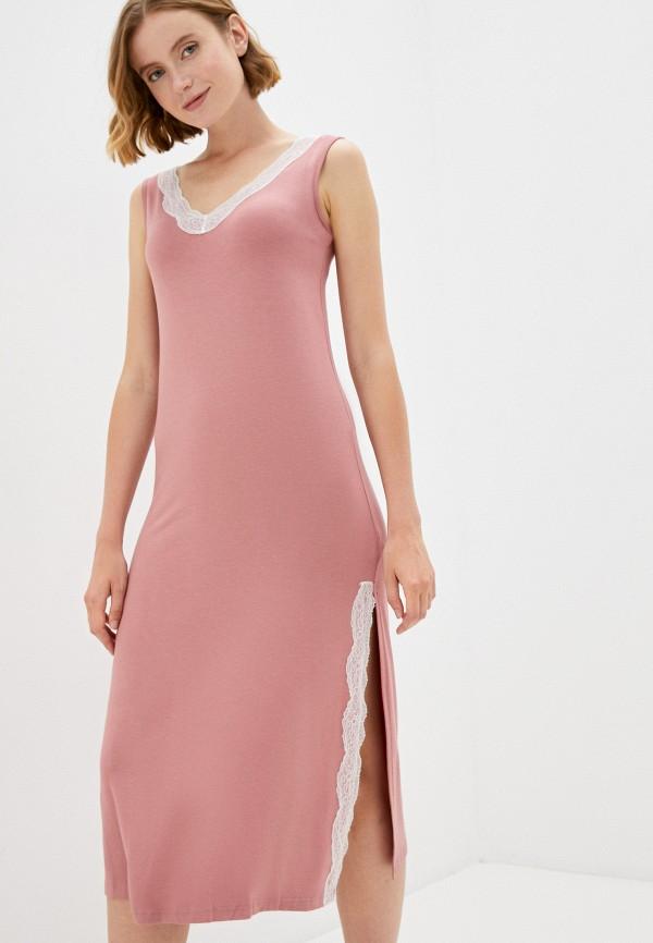 женские сорочка ночная eva cambru, розовые