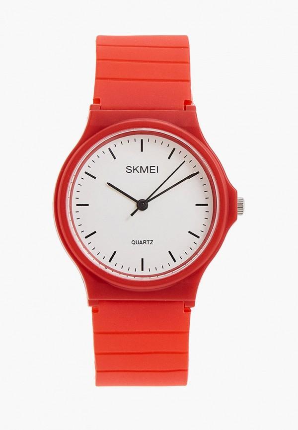 женские часы skmei, красные