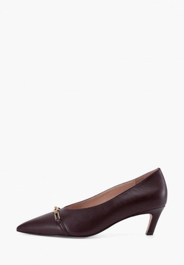 женские туфли-лодочки portal, коричневые