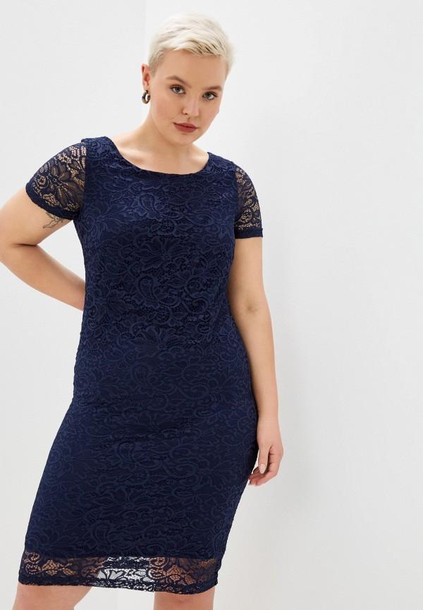 женское вечерние платье malena, синее