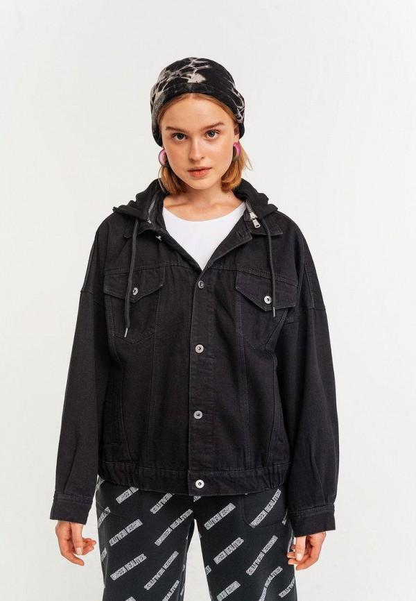 женская джинсовые куртка befree, черная