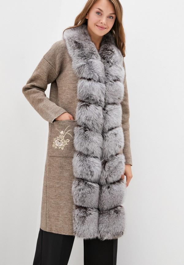 женское пальто v.s, коричневое