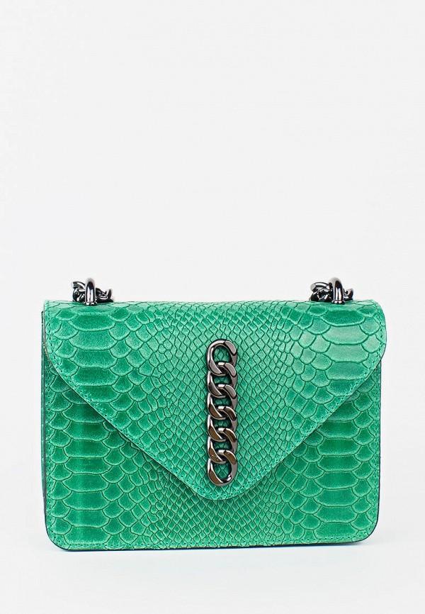 женская сумка bella bertucci, зеленая