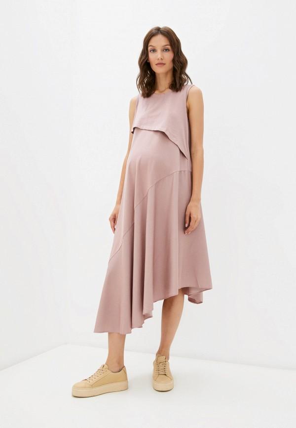 женское платье proud mom, розовое