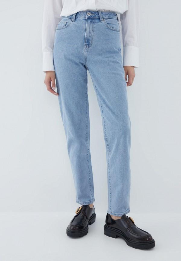 женские прямые джинсы zarina, голубые
