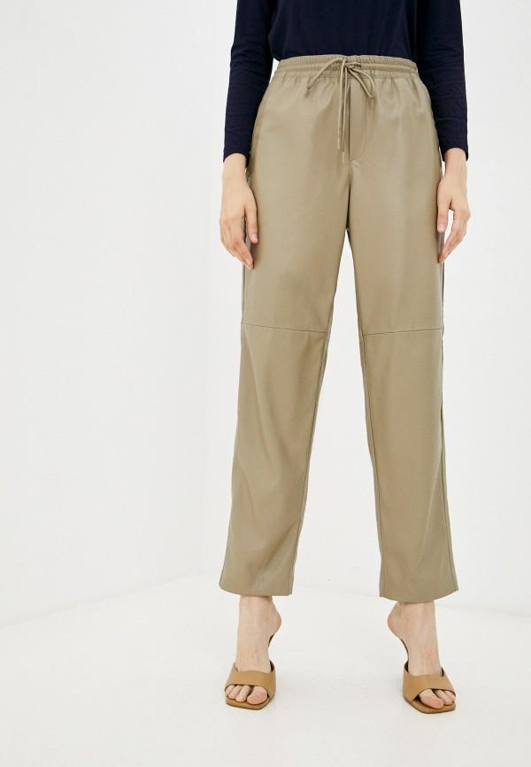 женские кожаные брюки sela, хаки