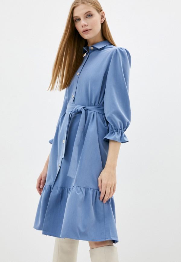 женское платье-рубашки luvine, голубое