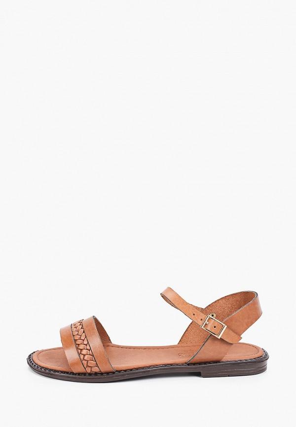 женские сандалии makfine, коричневые