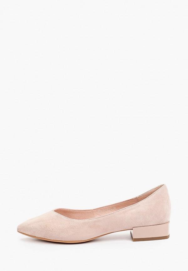 женские туфли с закрытым носом makfine, бежевые