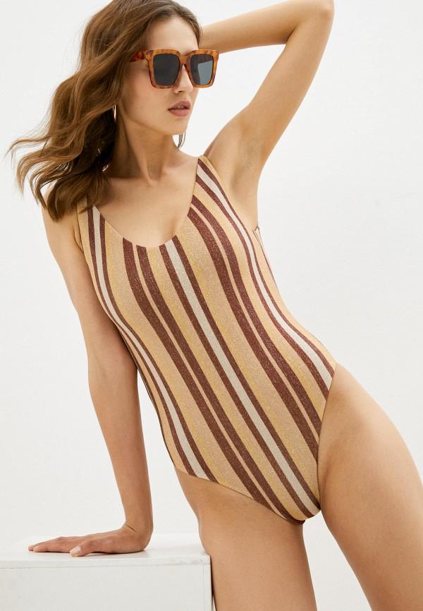 женский купальник calzedonia, коричневый