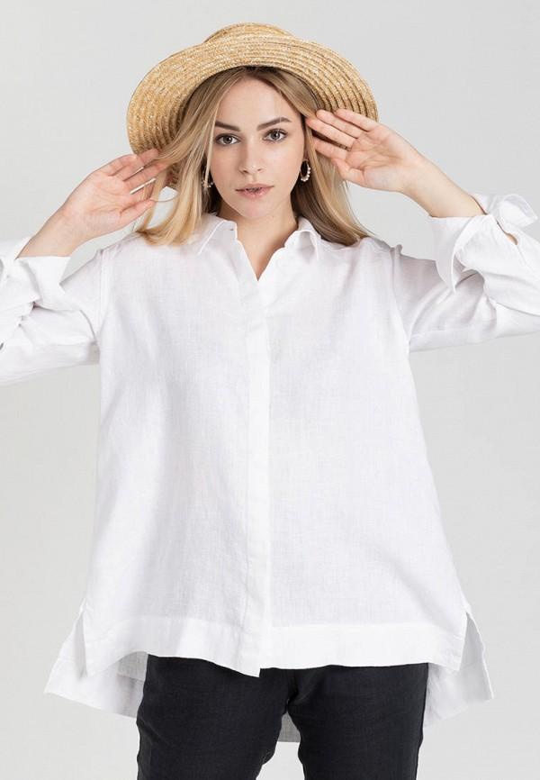 женская рубашка с длинным рукавом feel and fly, белая